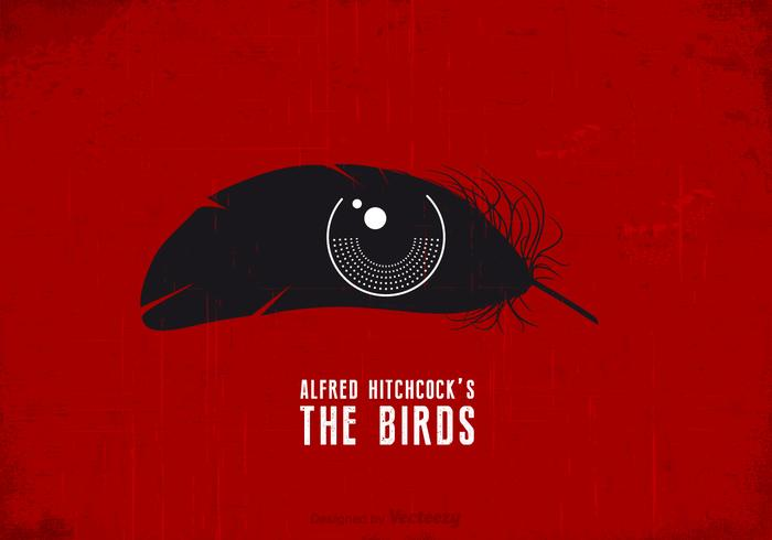 Free Hitchcock The Birds Vector Poster