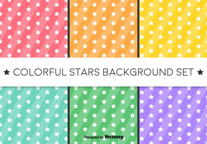 Vector Stars Background - Pattern di stelle