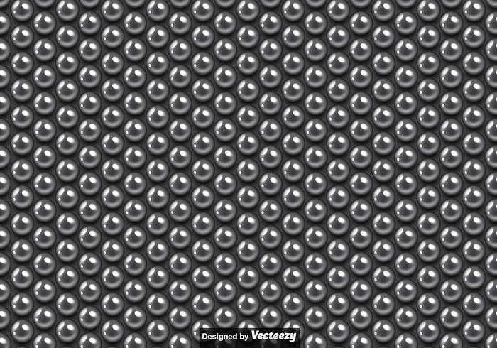 Vector Seamless Pattern Of Metallic Balls