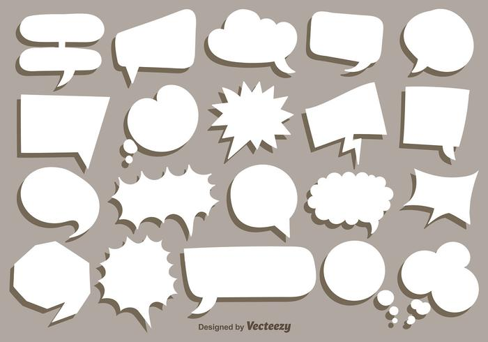 Colección de vector de blanco Speech Bubbles