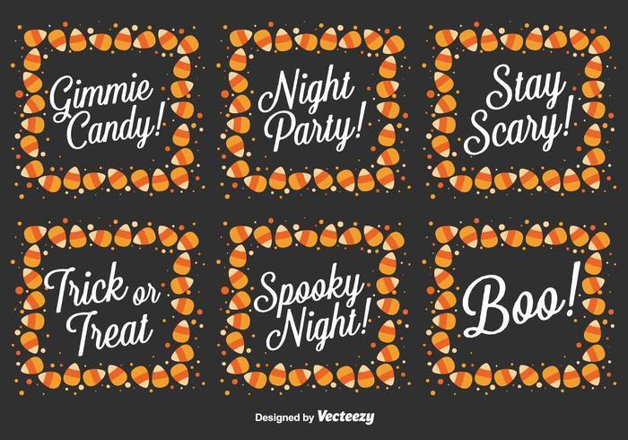 Vector Uppsättning av Halloween Meddelanden