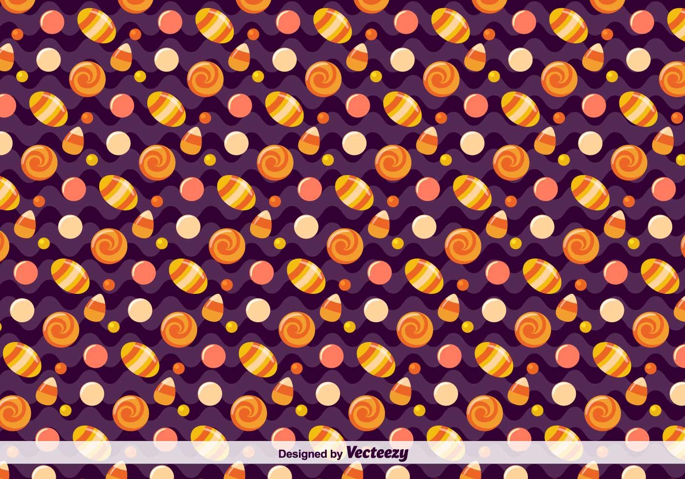 Vektor-Süßigkeit Muster für Halloween - Kostenlose Vektor-Kunst ...