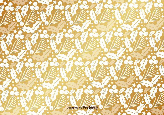 Padrão de Ouro Mistletoe Vector