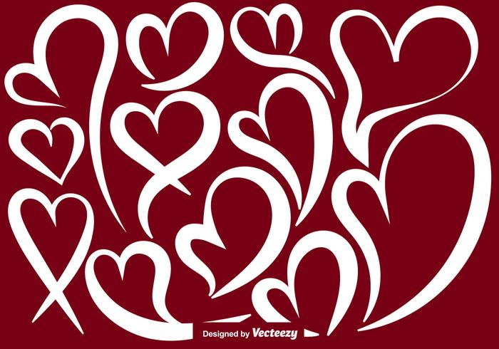Vector Abstract Heart Shapes