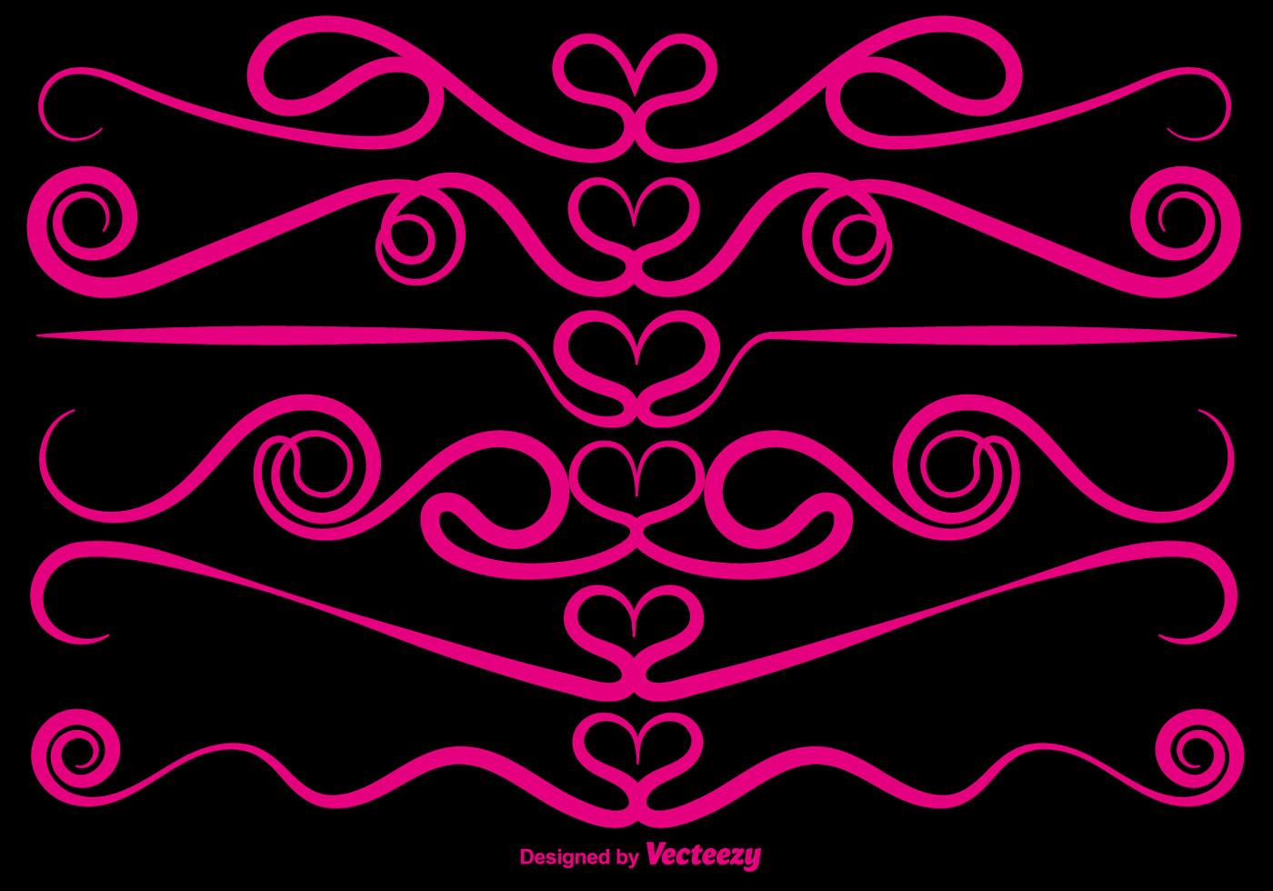 vector ornamental love dividers download free vector art