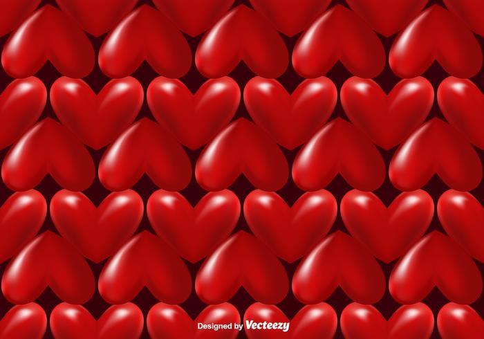 Vector 3d Hearts Seamless Pattern