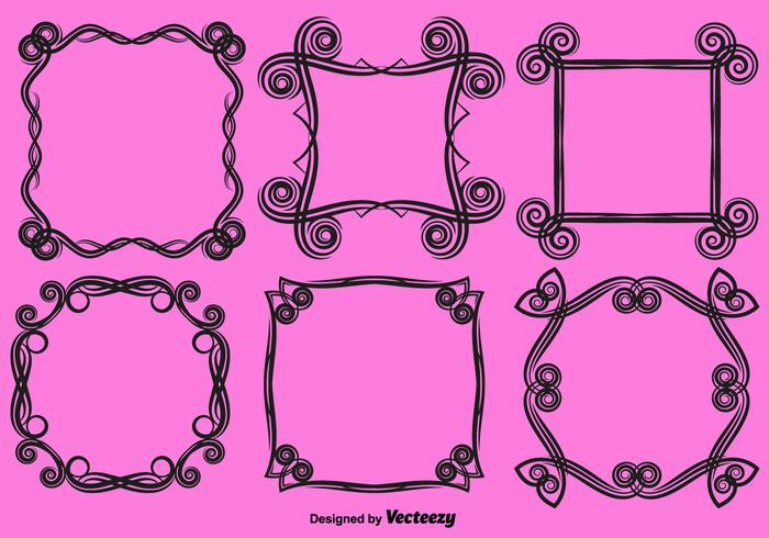 Vector Ornamental Frames Amor