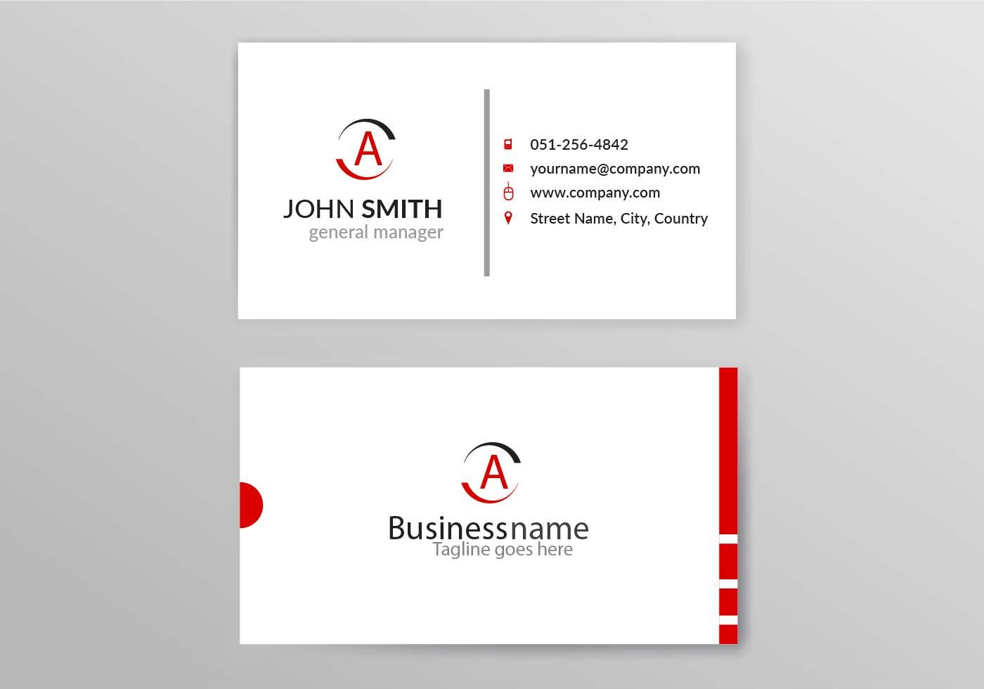 Name card template free download