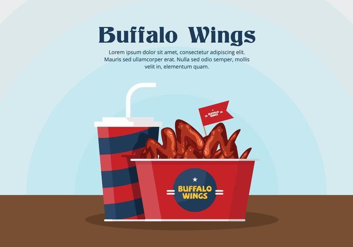 Buffalo Wings Vector