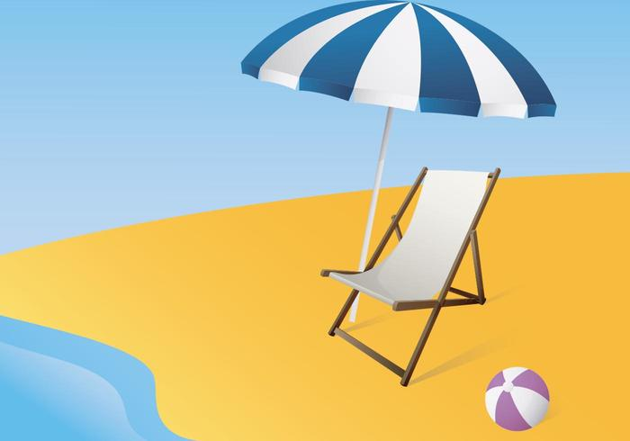 Illustration Of A Canvas Deck Chair