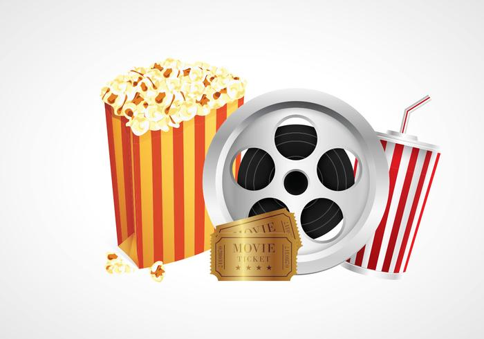 Cinema Popcorn Box Vectors