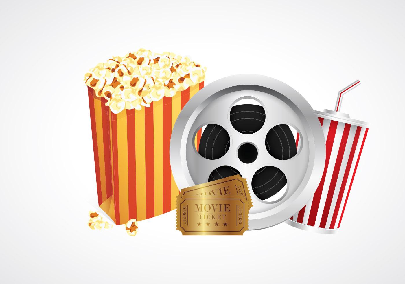 Cinema Popcorn Box Vectors Download Free Vectors