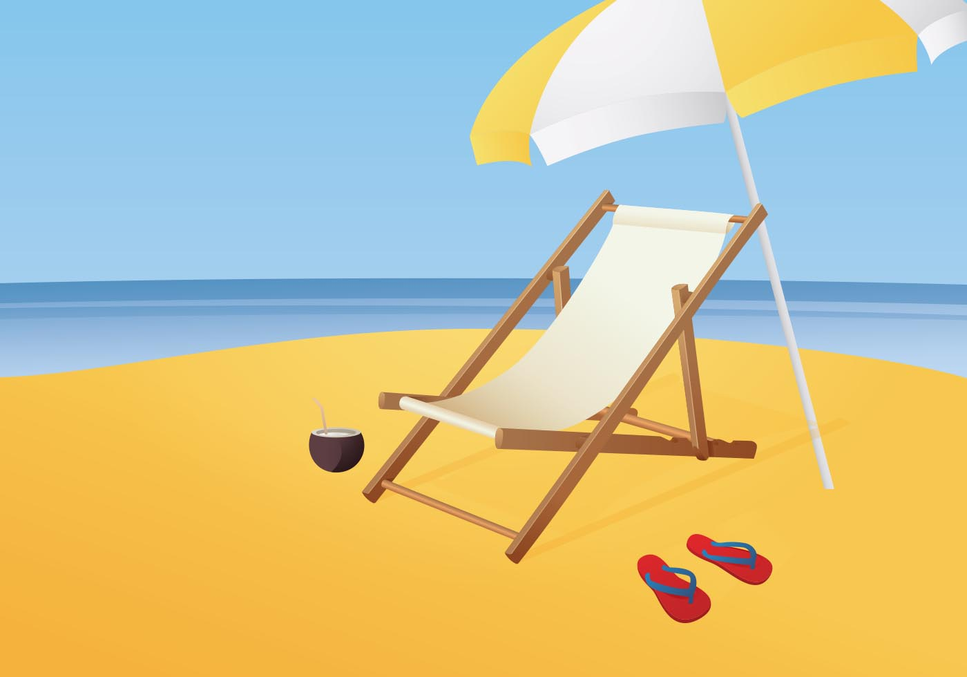 Free Illustration Of Beach chair vector - Download Free ...