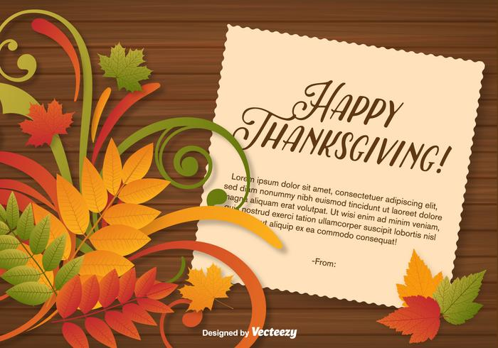 Vector Beautiful Thanksgiving Background