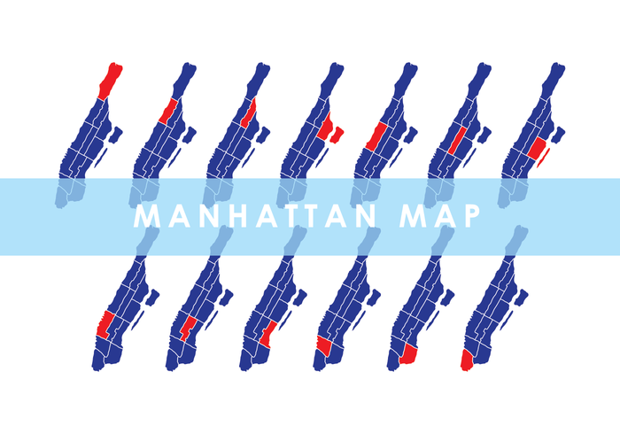 Vector Manhattan Mapa