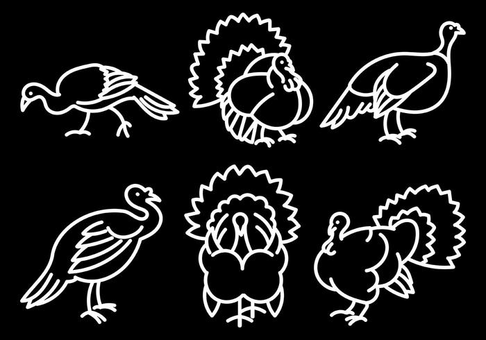 Free Vector Wild Turkey Icons