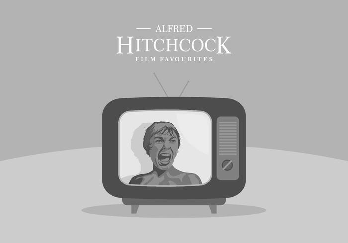 Hitchcock TV Background vector