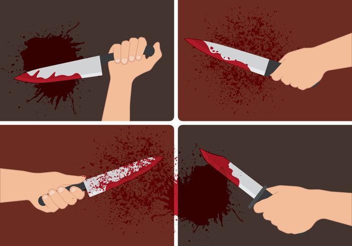 Bloedige Hand Vectoren