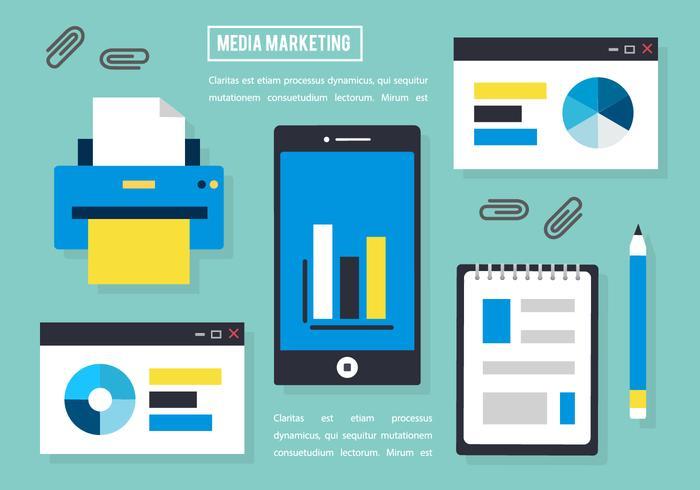 Free Flat Media Marketing Vector Elements