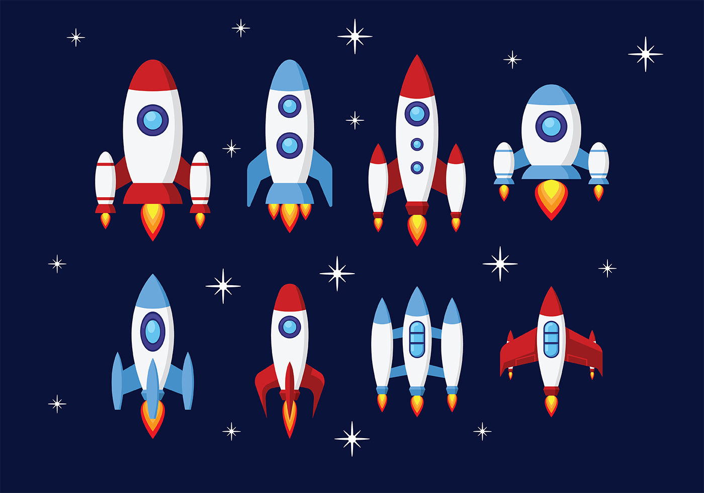 Rocket Free Vector Art