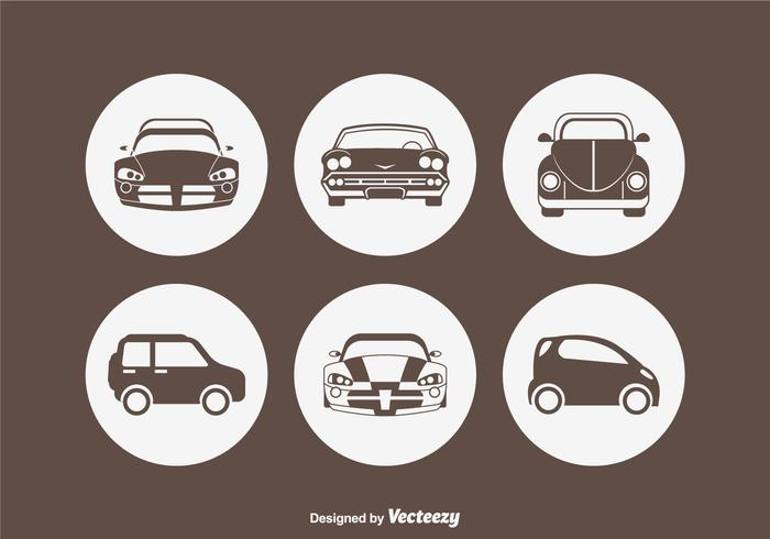 Car Silhouette Vector Icons