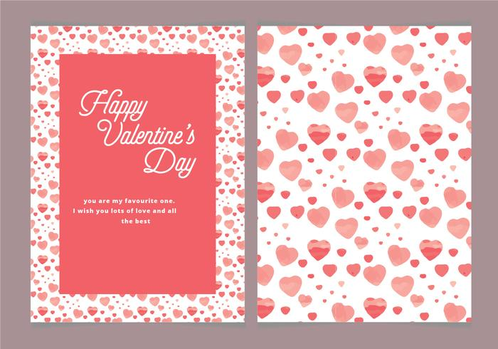 Vector Hearts Valentine's Day Card