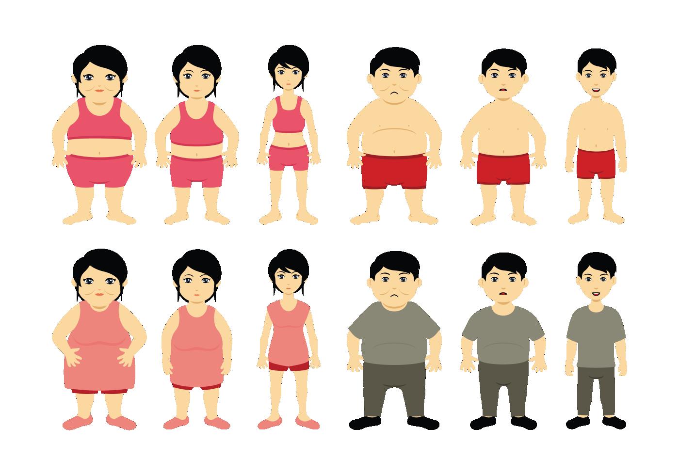 Cartoon Slimming Vector Download Free Vector Art Stock