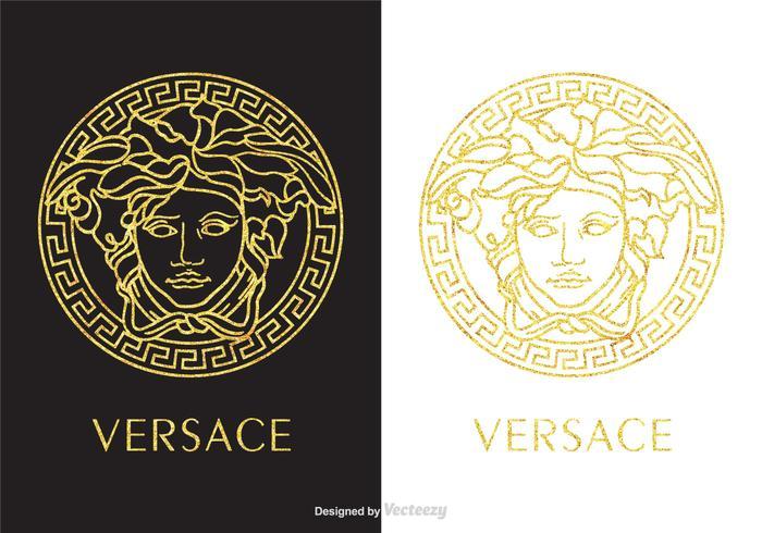 Golden Versace Logo Vector