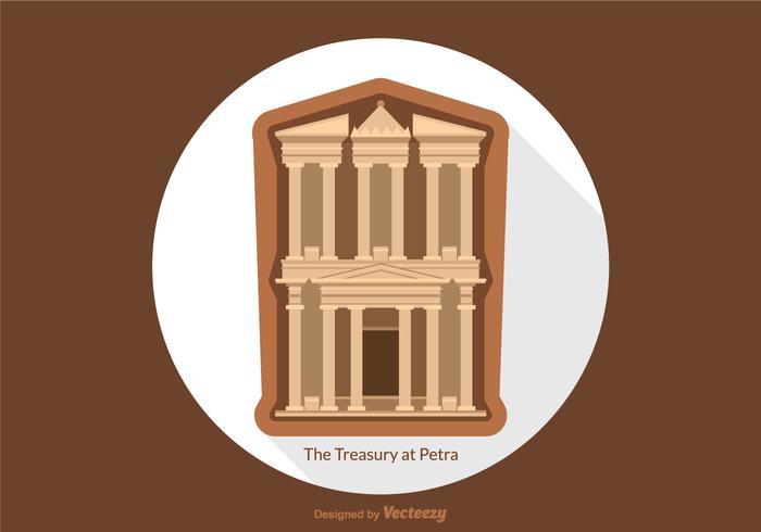 Free Vector Treasury At Petra