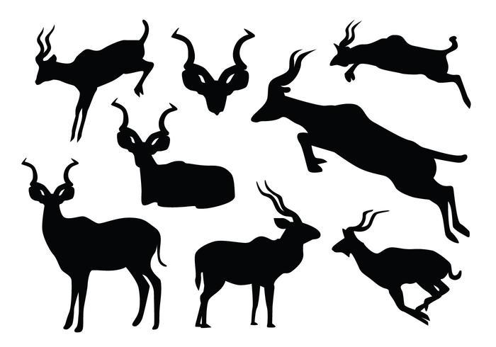 Jumping Kudu Silhouette
