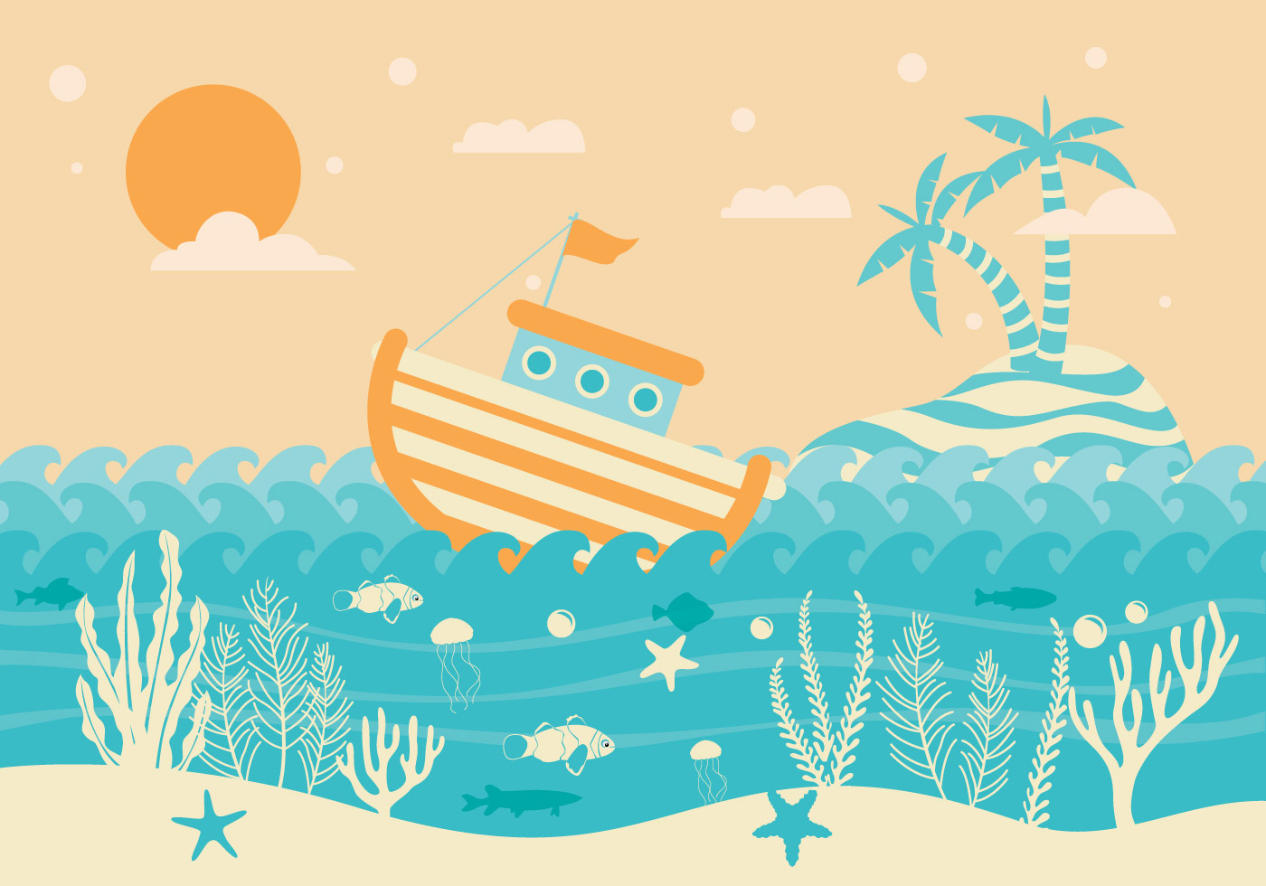 sea bed beach vector - photo #8