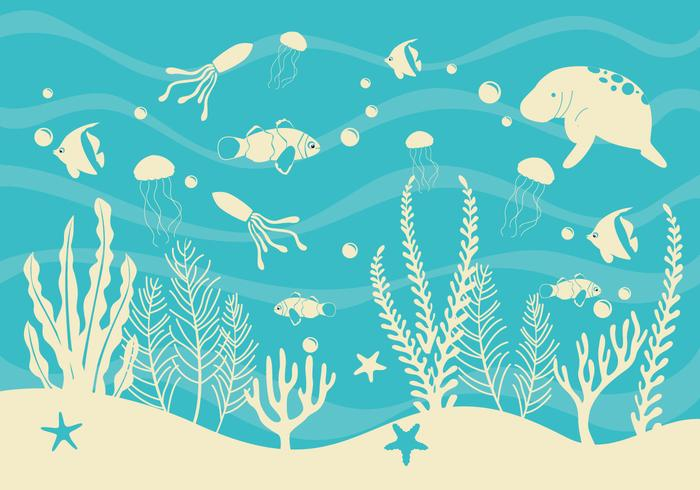 Seabed Simple Vector