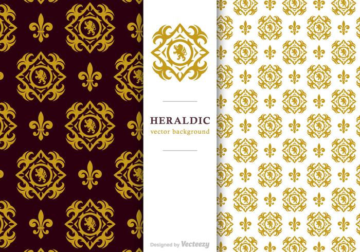 Free Vector Heraldic Background