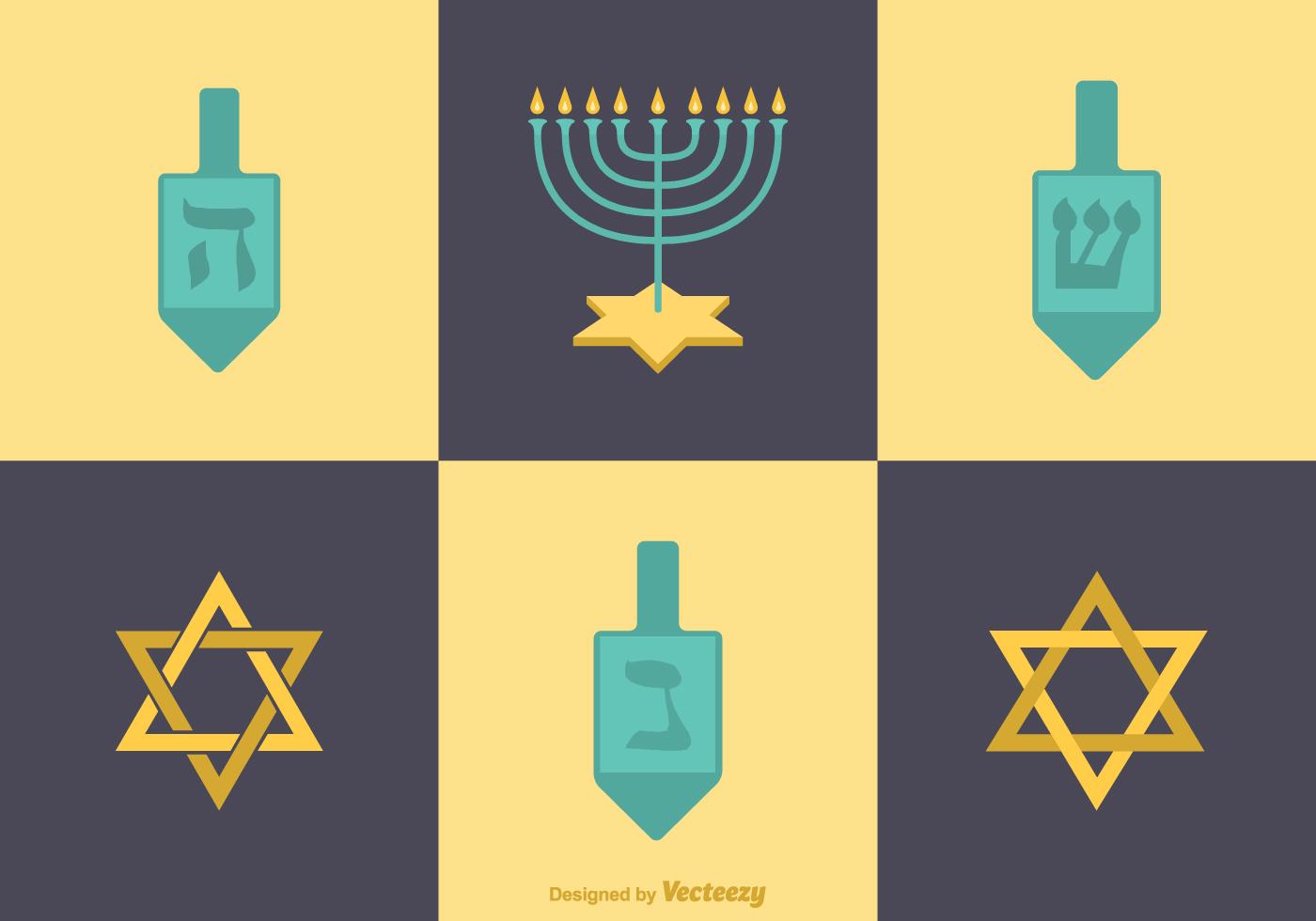 Free Vector Flat Hanukkah Icons Download Free Vector Art Stock