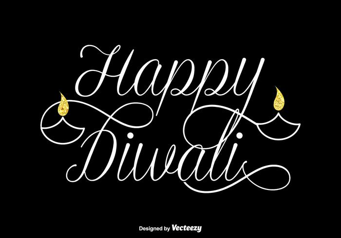Free Happy Diwali Vector Lettering