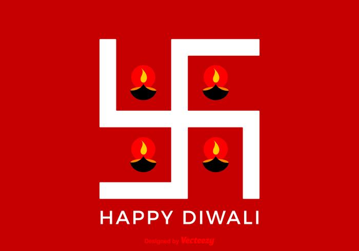 Free Vector Happy Diwali Swastika