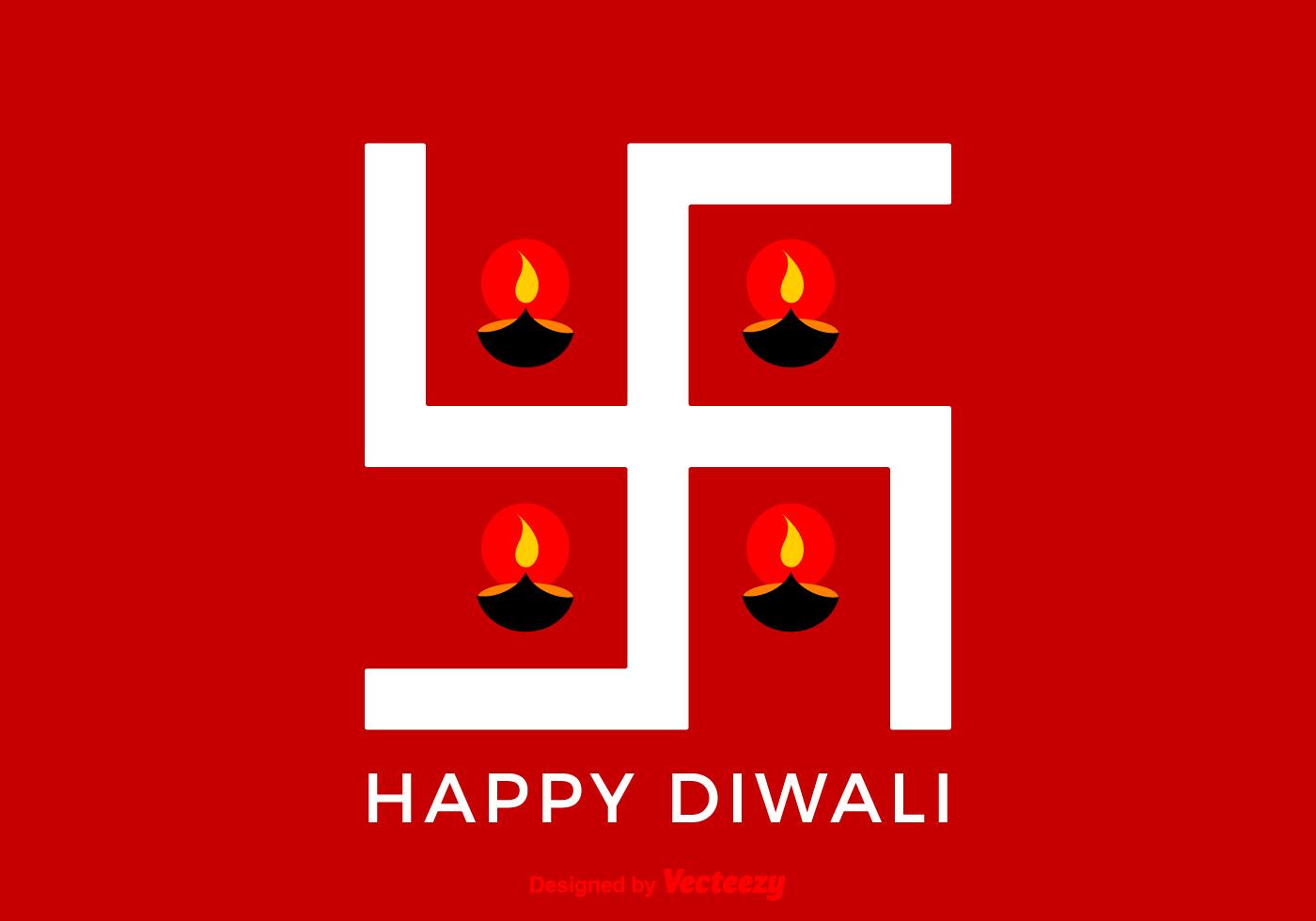 Free Vector Happy Diwali Swastika Download Free Vector Art Stock