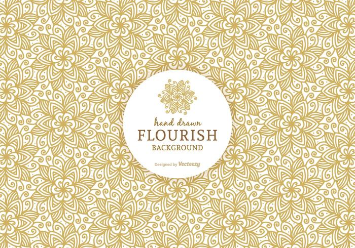 Ornate Flourish Vector Background