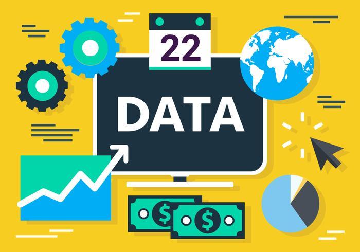Vector concepto de marketing digital gratuito plana