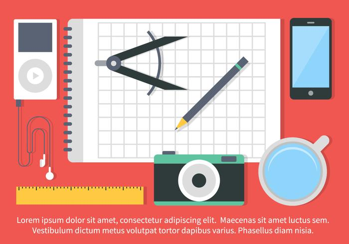 Free Vector Flat Design School Elements