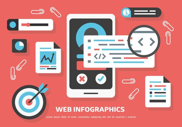 Free Web Inforgaphics Vector Background