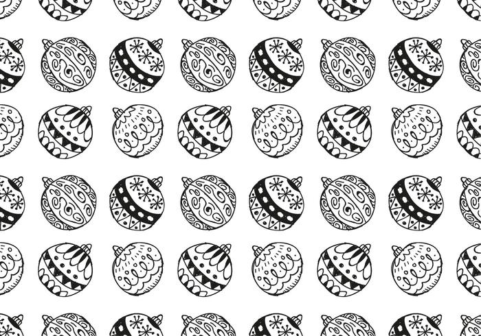 Free Christmas Hand Drawn Pattern Background