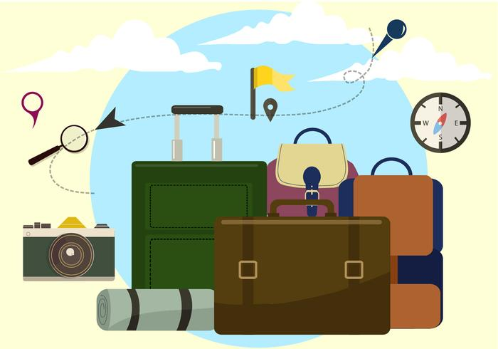Free Travel Time Vector Illustration