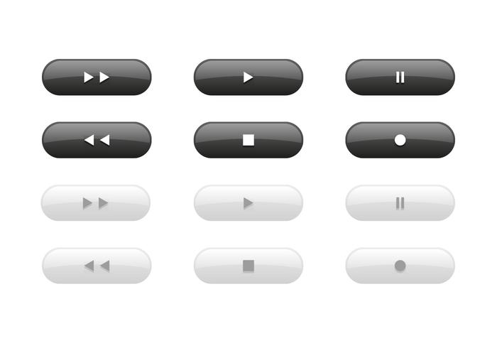 Button vectors for music related designs