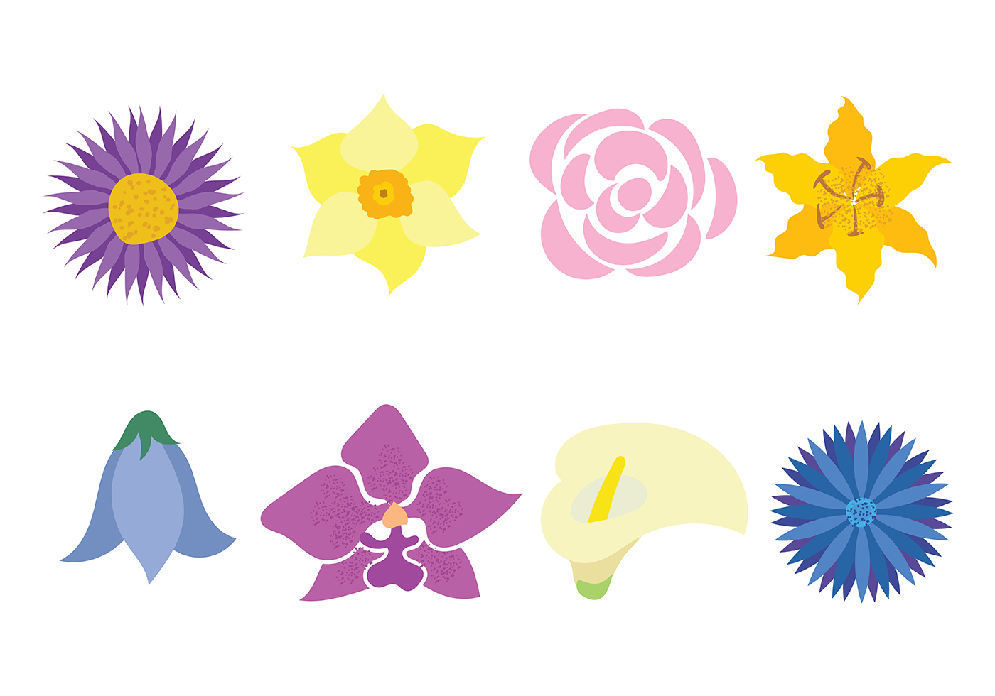 Flower Icon Vector Download Free Vector Art Stock Graphics Images