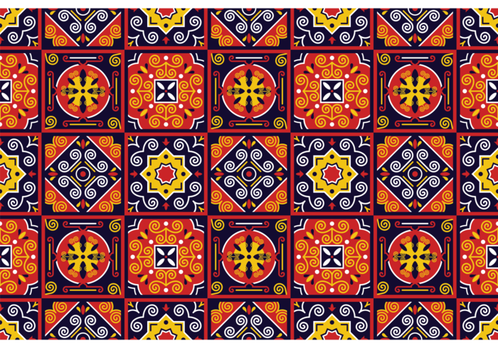 Vector Traditional Azulejos Pattern
