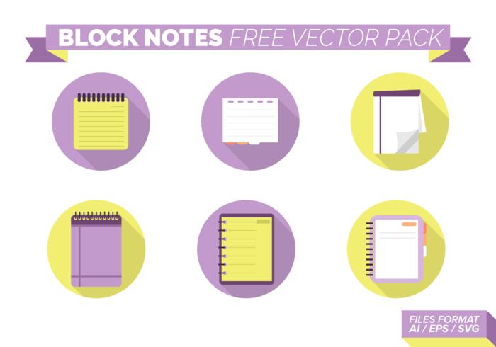 Bloque Notas Paquete de vectores libres