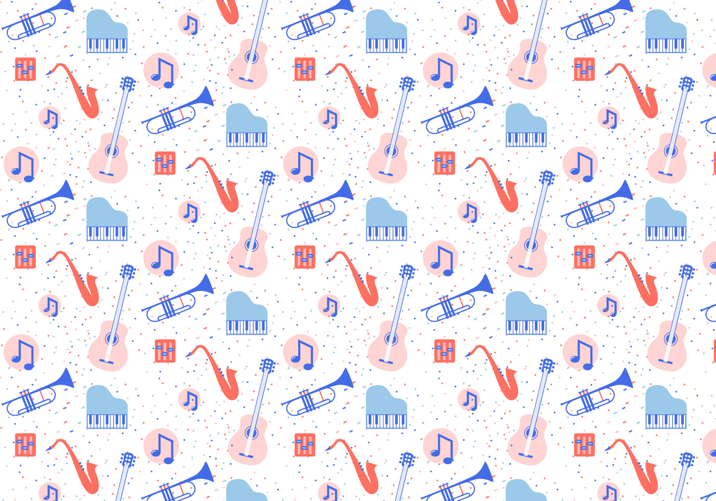 Musical Instruments Pattern Download Free Vectors