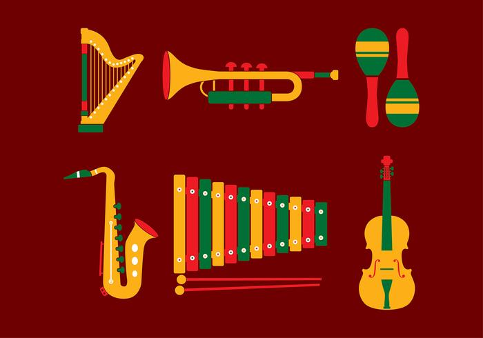 Music Set Free Vector