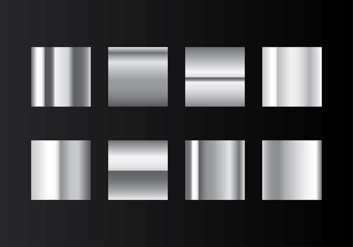 Grey Gradient Steel Swatches Vector